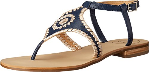 Jack Rogers Women's Maci Dress Sandal, Midnight/Platinum, 5.5 M ()