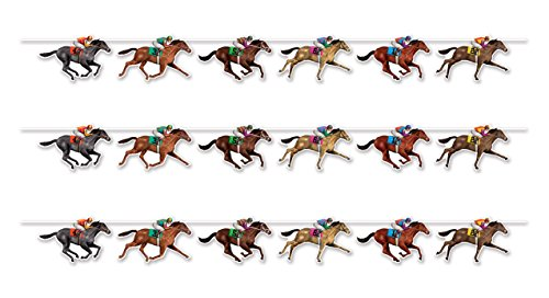 Beistle 59951 3 Piece Horse Racing Streamers, 10.5