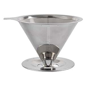 Filtro de café Lavado a Mano 304 Acero Inoxidable Cifrado ...