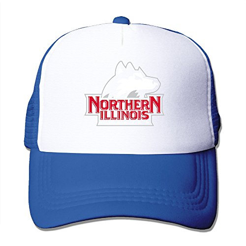 Price comparison product image Baboy Northern Illinois Huskiey Trucker Hat Lightweight Mesh Snap Back CapRoyalBlue