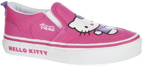 Vans Kids's VANS ASHER (HELLO KITTY) MS SKATE SHOES 2.5 Kids US (MAGENTA/WHITE) ()