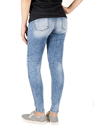 Azul Skinny Mujer Denim para Capitán Push Up Vaqueros Carly Carbon Blue 8wRxxaqS6