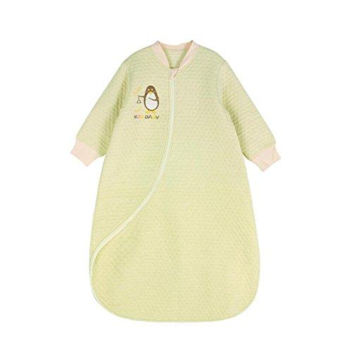 Fairy Baby Organic Cotton Baby Sleeping Bag Sack Long Sleeve,0-2 Years,Light Green