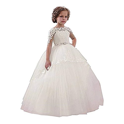 XGSD Flower Girl Dress Girls First Communion Dress Girls Pageant Ball Gowns with Bow Vestido da menina de Flor -