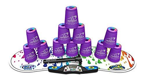 Set Speed Stacks - SPEED STACKS Competitor - Royal Purple w/ Rainbow Drops Mat