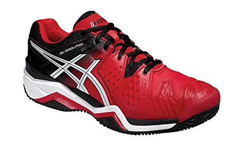 Amazon.com | ASICS Gel Resolution 6 Men's Clay Tennis Shoe Red/Black ...