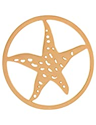 MS Koins Stainless Steel Coin Starfish Yellow Gold Plated Fits Our Coin Locket System, 30mm Diameter