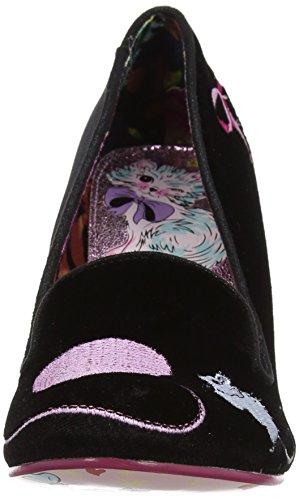 Peg C Choice Irregular Fuzzy Violet Femme Black Fermé Escarpins Bout Noir 6qwPgHx