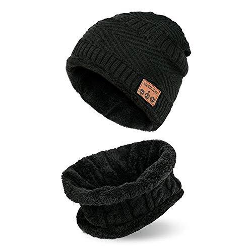 Vivicute Winter Warm Knit Hat Wireless Bluetooth Hat Plush Music Beanie Cap  Men Women Outdoor Sports ee55fbe5113c