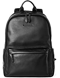Men's Backpack Genuine Leather Travel Bag Extra Capacity Casual Daypacks