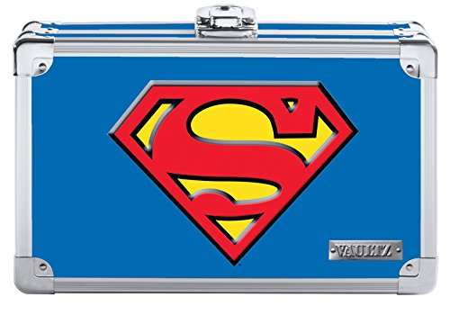 - Vaultz Superman Pencil Box, 8.5 x 2.5 x 5.5 Inches, Blue (VZ00879)