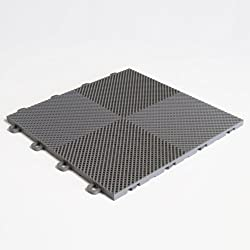 BlockTile B2US4630 Deck and Patio Flooring Interlocking Tiles Perforated Pack, Gray, 30-Pack