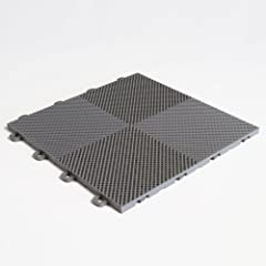 Transform any concrete patio or wooden deck floor using our Perforated Interlocking floor tiles, which feature a two-toned look! Each tile measures 12 in. x 12 in. x ½ in. thick and are made in the USA. These tiles are made from high-impact p...