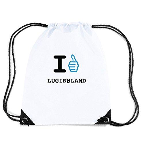 JOllify LUGINSLAND Turnbeutel Tasche GYM361 Design: I like - Ich mag