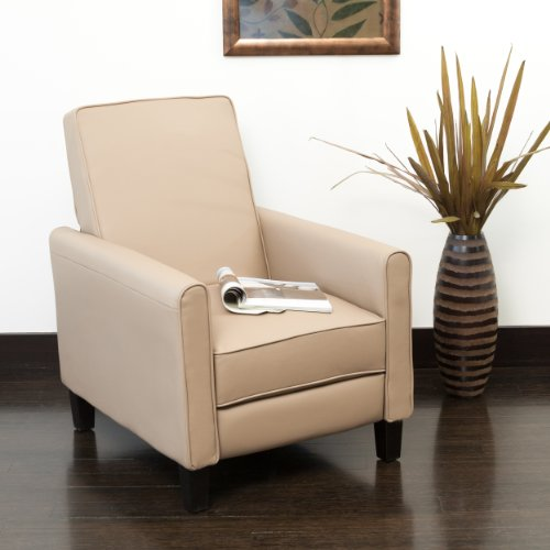 Leather Easy Chair (Lucas Camel Leather Recliner Club)