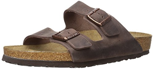 Sandals Leather Arizona Birkenstock (Birkenstock Arizona Habana Leather Unisex Sandal 42 R (US Women's 11-11.5))