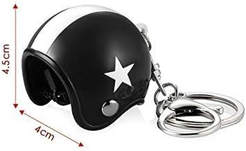 Multicolore Portachiavi da moto stile vintage - Porte cl/é casque moto vintage Bandiera americana