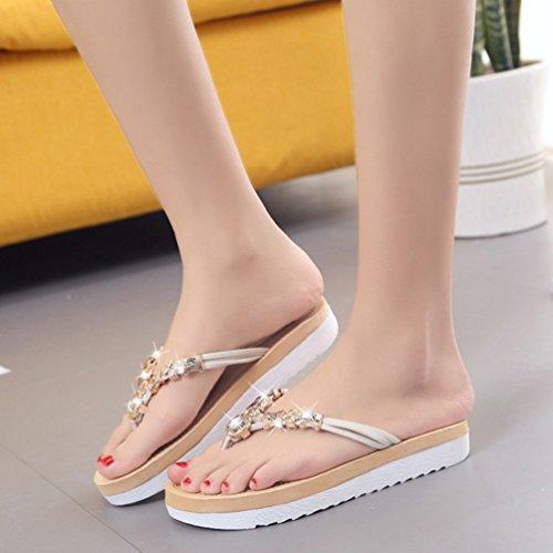 Sentao Sandalias Para Mujer Zapatos de La Playa de Bohemia del Verano Zapatillas BQhCgLKgX