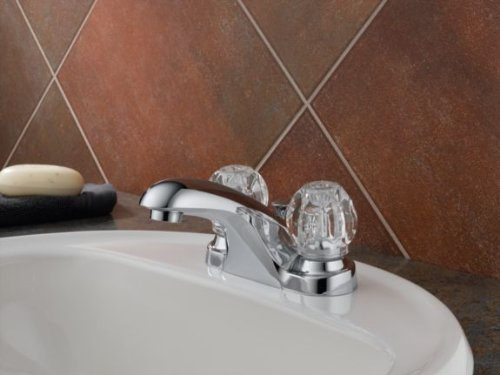 Delta Foundations B2512LF Two Handle Centerset Bathroom Faucet, Chrome by DELTA FAUCET (Image #2)