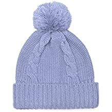 LOVARZI Cable Knitted Hat With Pom Pom - Warm Winter Hats For Men and Women