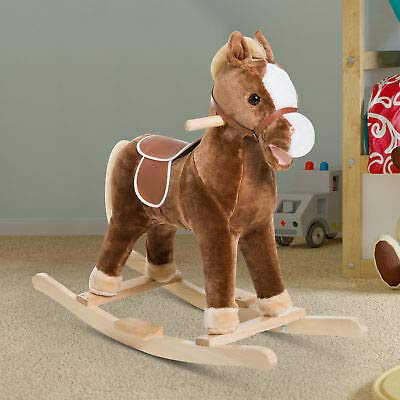 Canvoi Kids Gift Ride On Rocking Horse Toy Pony Plush Rocker w/ Realistic Sound from Canvoi