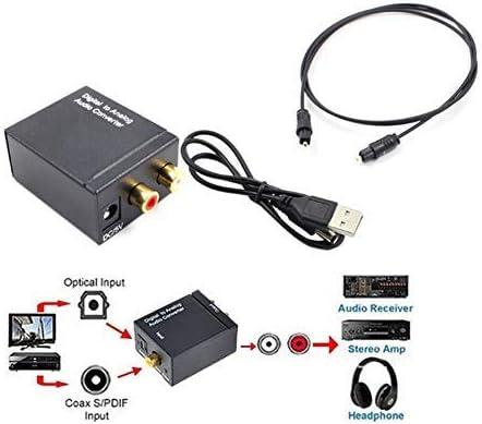Huangthrostore Coaxial Digital Signal Óptico Fibra a Analógico Conversor de Audio: Amazon.es: Hogar