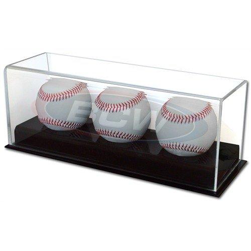 BCW 1-AD12-3 Acrylic Triple Baseball Display by BCW