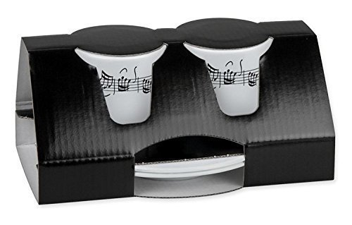 Vienna World Geschirr Musiker Classic Geschenk Espresso-Set (2Stück) 2Design Line Of Notes