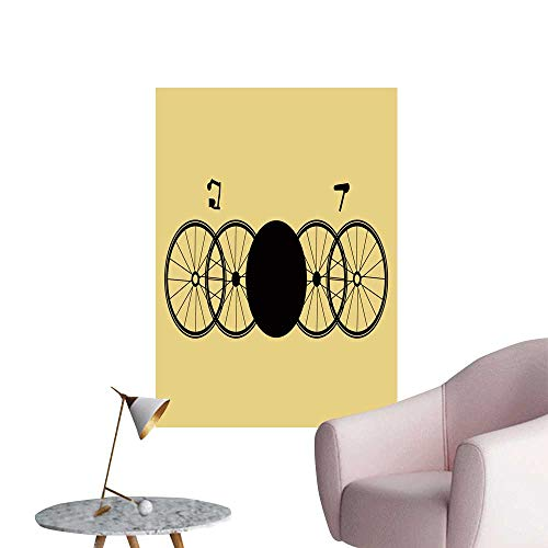 SeptSonne Wall Decoration Wall Stickers Unreal stylize Bicycles for backgroun postcar Calendar Booklet Label Print Artwork,28
