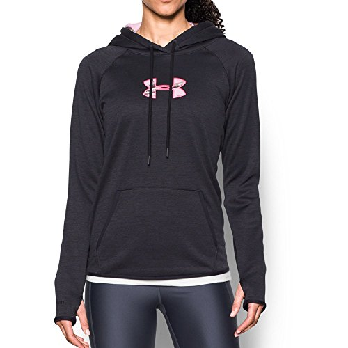 Under Armour Women's Icon Caliber Hoodie, Black/Realtree Ap Pink, Small