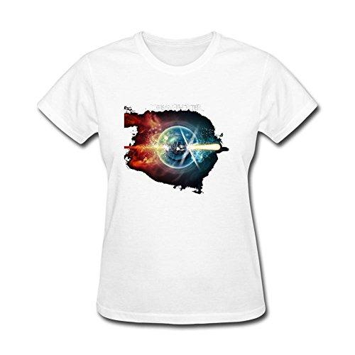 YLINFUN Women's Dream Theater Art Design T-shirt Size S White