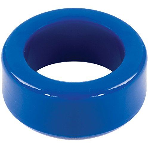 Doc Johnson TitanMen - Cock Ring - Stretch-to-Fit - Makes Your Penis Firmer, Harder, and More Engorged - Made of Body-Safe TPR - Blue by Doc Johnson