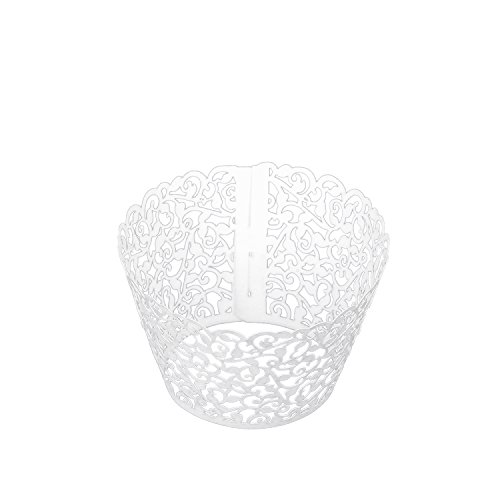 European Style Filigree Little Vine Lace Laser Cut Cupcake Wrapper Liner Baking Cup Muffin Case Trays Wedding Birthday Party Decoration (120, Little -