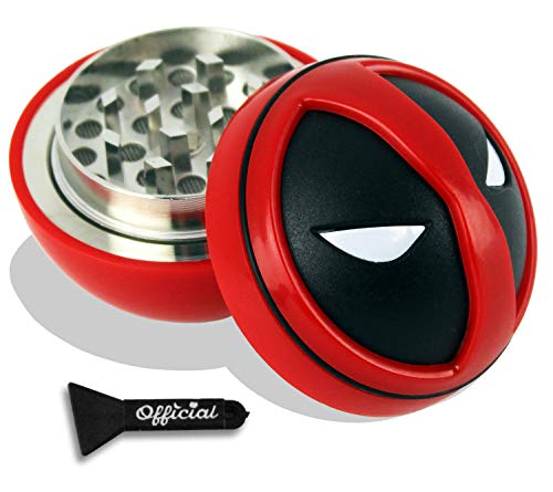 Official Deadpool Herb Grinder With BONUS Scraper - Deadpool Gifts - Cool Grinders For Herb - 3 Piece Grinder, 2.2 inches by Nestpark]()