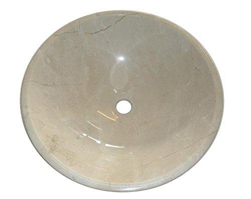 Crema Marfil Stone Round Bowl Bathroom Wash Basin 350mm diameter (B0070) Grand Taps