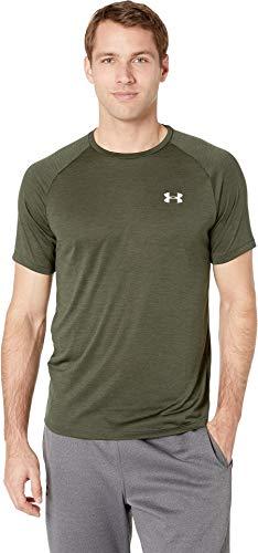 Under Armour Men's UA Tech Short Sleeve Tee Artillery Green/White XXX-Large - Mens Tech Tee
