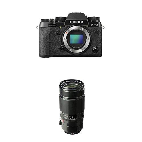 Fujifilm X-T2 Mirrorless Digital Camera (Black) w/ XF50-140mmF2.8 R LM OIS WR Lens by Fujifilm