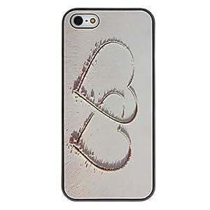 ZXM-Corazón a Corazón Patrón Caso duro PC con la protección del Mate Interior para el iPhone 5/5S