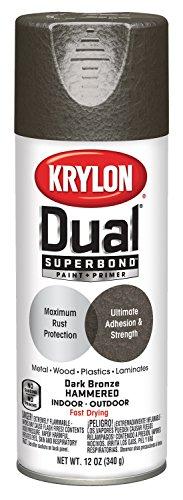 Krylon K08844007 'Dual' Superbond Paint and Primer Hammered Finish, , Dark Bronze