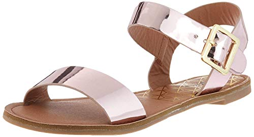 Qupid Women's Two-Piece Sandal Flat, Rose Pink, 6 M US from Qupid