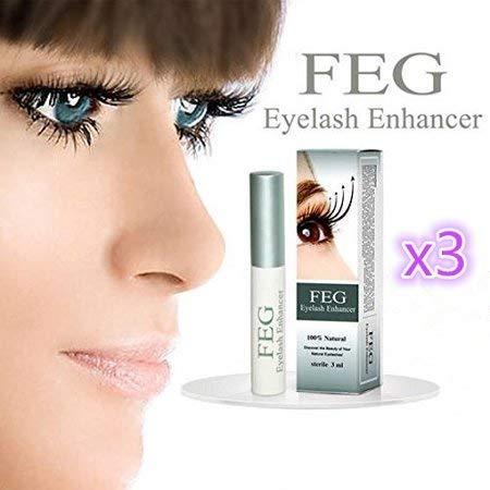 3 X FEG Eyelash enhancer!!! 3 pieces of most powerful eyelash growth Serum 100% Natural. Promote rapid growth of eyelashes!