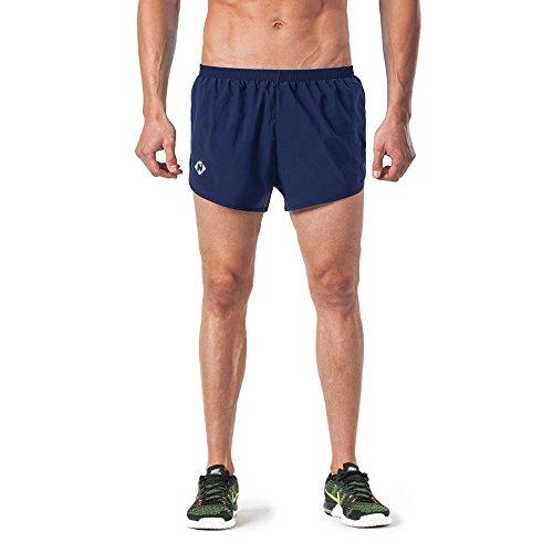 Naviskin Men's Lightweight Quick Dry Running Shorts Training Pace Shorts Navy Size - Running Shorts 4