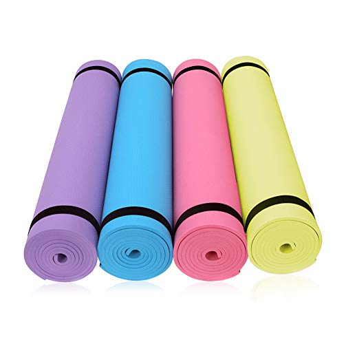 DANGSHUO Extra Thicken Exercise Mat | Non-Slip Durable Workout Mat | Extra Long Cushion for Yoga, Pilates, Meditation…