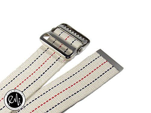 EMI-60-Gait-Transfer-Belt-WHITE-with-METAL-Buckle-100-Cotton-624-M-Wht