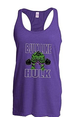 Artix Bulk Like Hulk Beast Gym Workout Fitness Gifts Fashion People Couples Best Friend Gifts Women's The Jersey Racerback Tank Clothes Medium Heather (Hulk Workout Tank)