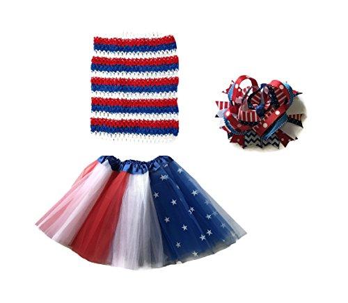 Rush Dance Patriotic Flag Ballerina Girls Dress-Up Princess Costume Recital Tutu (Kids (3-8 Years), Tutu & (Infant Halloween Costumes Ireland)