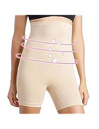 + MD Bragas invisibles de cintura alta con control de abdomen, sin costuras, sin tirantes, moldeador de cuerpo, pantalones cortos para adelgazar el muslo