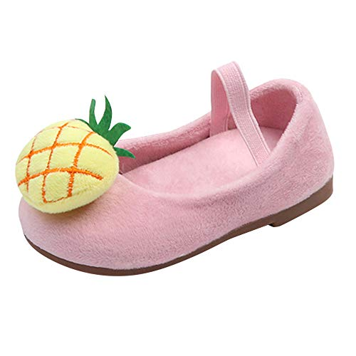 Kirbyates Fashion Kids Baby Infant Girls Autumn Winter Velvet Pineapple Cartoon 3D Duck Sweet Princess Shoes Sneakers