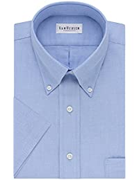 Mens Dress Shirts Short Sleeve Oxford Solid Button Down...