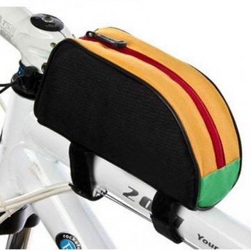 High Quality Multi Farben Fahrrad vorne Rohr Tasche Außen Mountain Bike Bag - Black